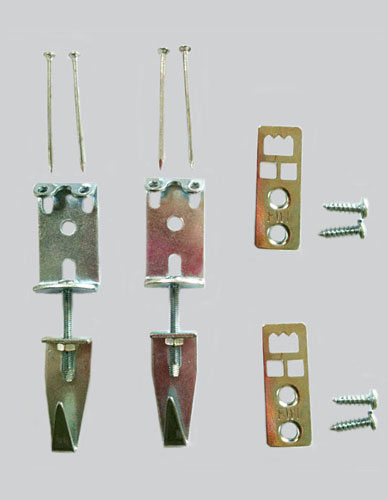 Crochet ajustable pour cadre bois