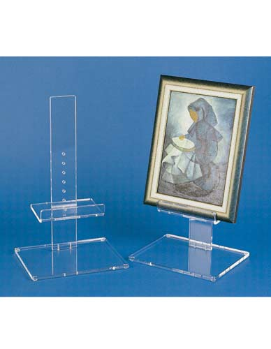 Straight easel ajustable in plexi