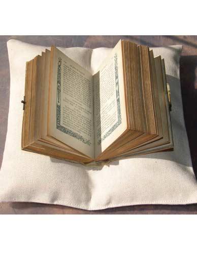 Presentation cushion for book