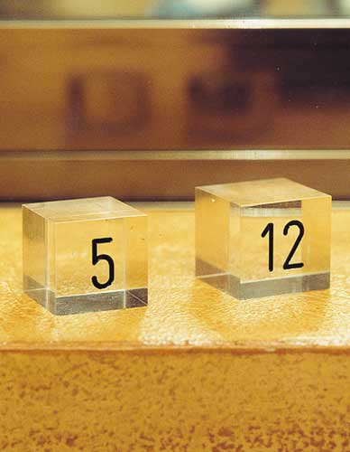 Numbered cube