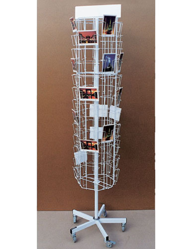Freestanding display for postcards