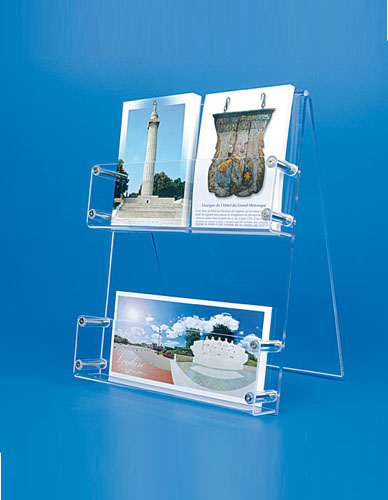 Plexi counter display for postcards