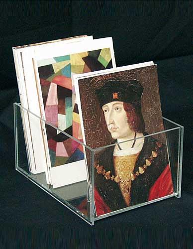 Boîtes plexi de comptoir pour cartes postales
