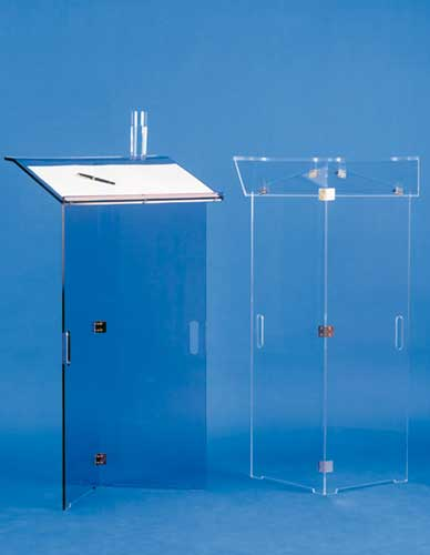 Foldable transparent lectern