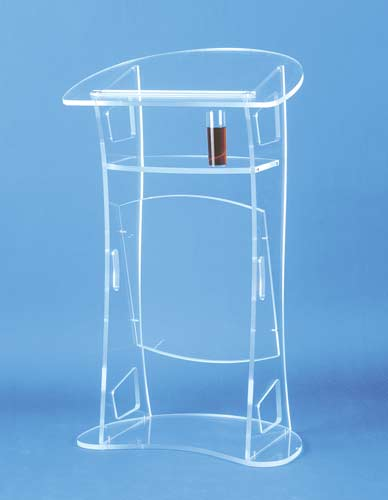 Transparent lectern Conference and podium