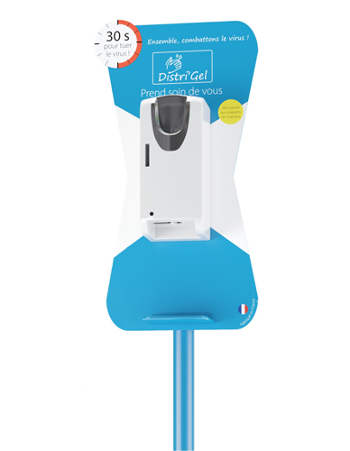 Hydro alcoholic gel dispenser