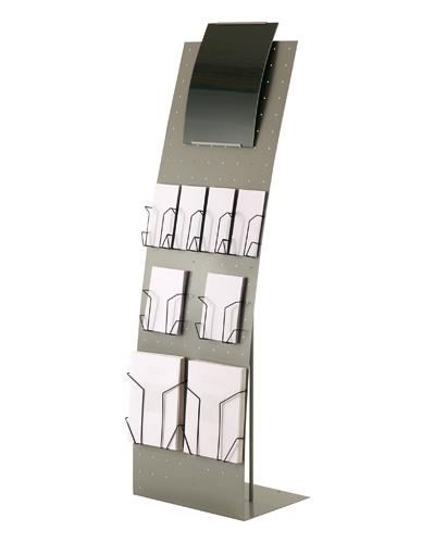 Présentoir Arco perforé largeur 48 cm et accessoires
