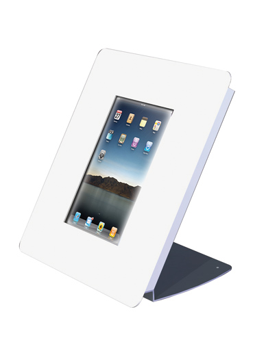Wall case and counter display for iPad