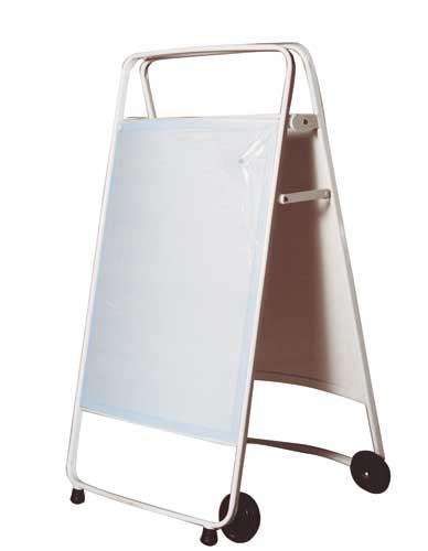 Curved poster easel