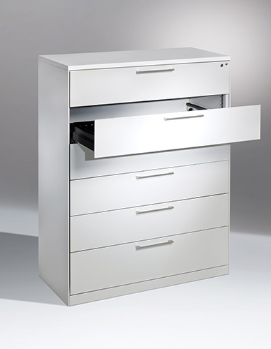 Cabinet with drawers for microfilms
