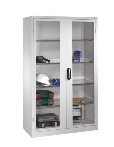 Cabinet with glass swing door