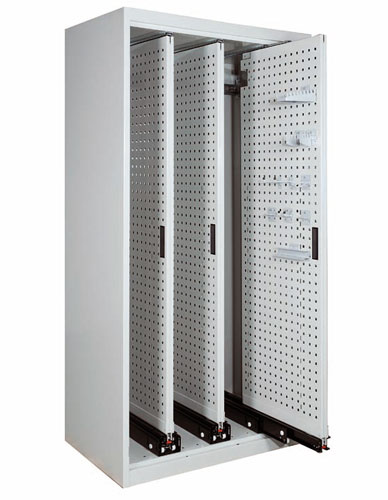 Cabinet with sliding panels