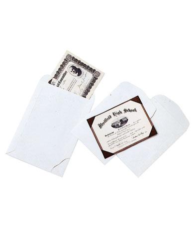 Pochette plate en papier permanent ouverture petit côté