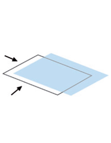 Polyester cover high transparency L-opening