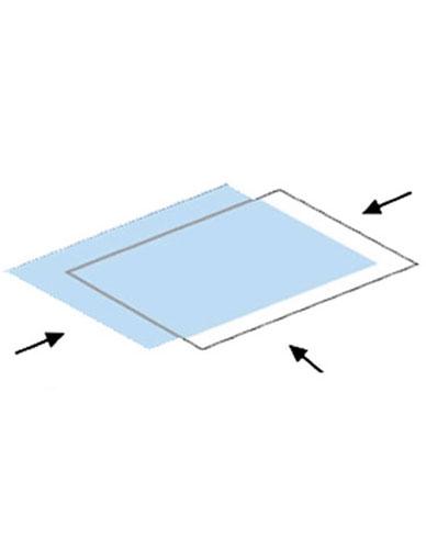 Pochette polyester haute transparence ouverture 3 côtés