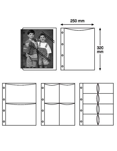Pochette perforée pour boîte-classeur