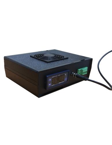 Régulateur hygrométrique par électrolyse