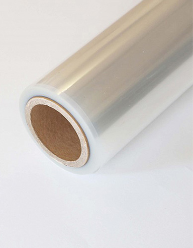Silicone polyester film on roll
