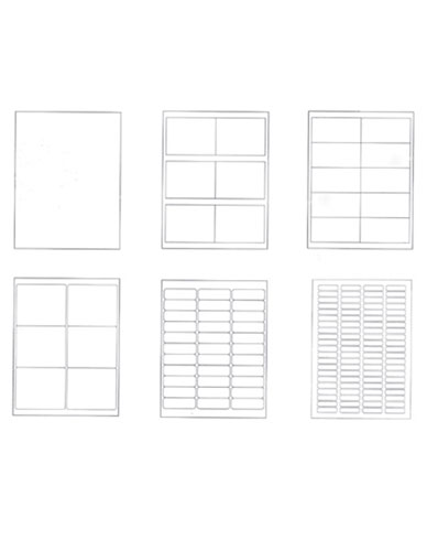Etiquettes adhésives en papier permanent