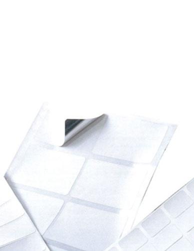 Adhesive labels on aluminum